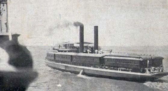 Ferrobarco María Parera zarpando del puerto de Zárate, para navegar 3 horas por el Río Paraná de las Palmas, hacia el puerto de Ibicuy