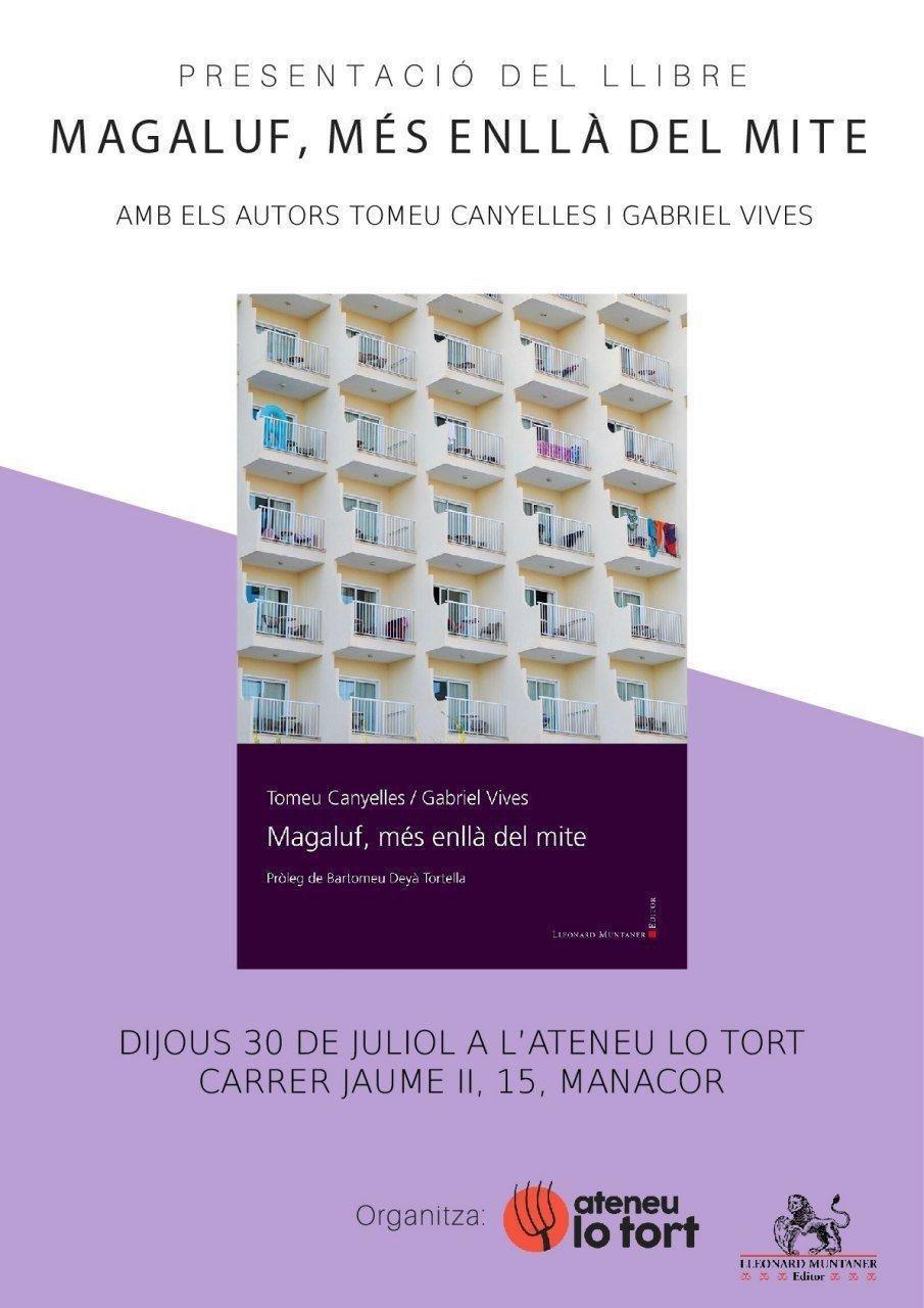 """Presentació del llibre """"Magaluf, més enllà del mite"""" (30-07-20)"""