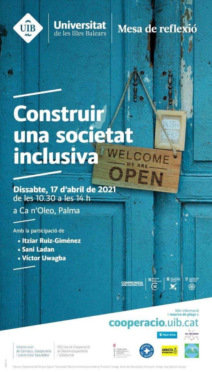 Mesa de reflexió: «Construir una societat inclusiva» (avui!)