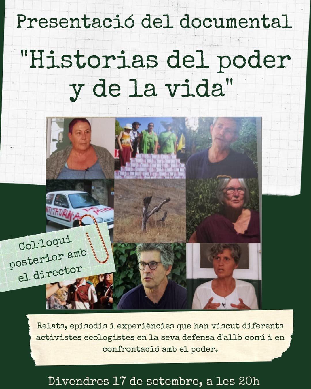 """Presentació """"Historial del poder y de la vida"""" (avui!)"""