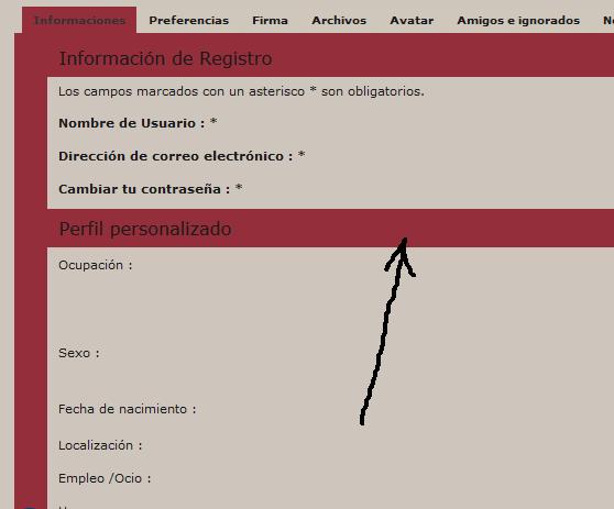 Imagen de fondo en el panel de perfiles LtgCrPI