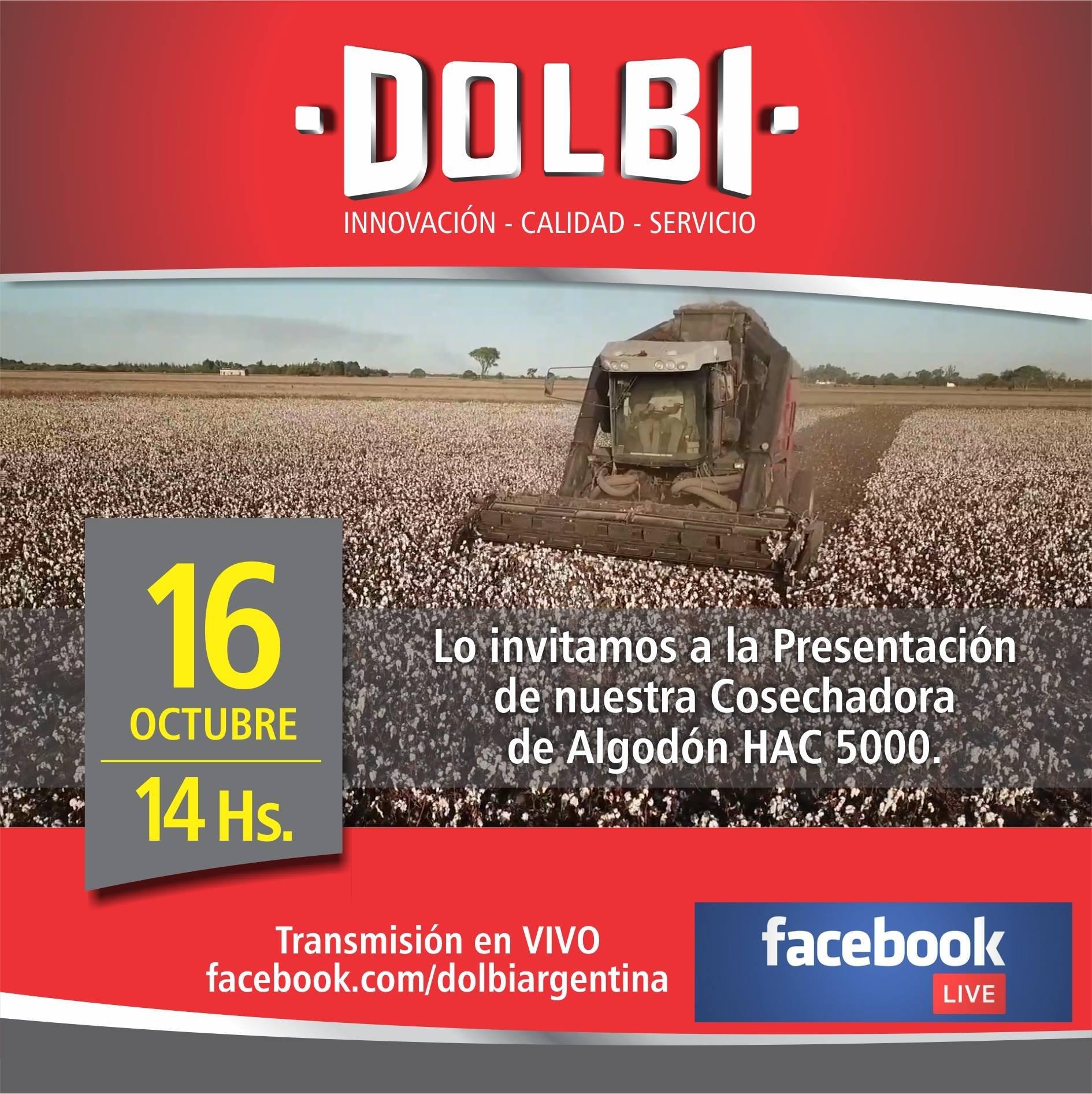 """Viernes 16 a las 14h presentación junto a DOLBI, INTA y APPA de la cosechadora y enrolladora autopropulsada """"HAC 5000″"""