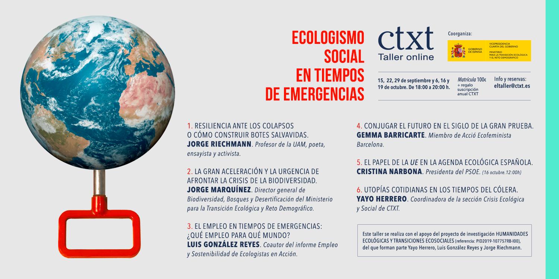 Talle: Ecologismo social en tiempos de emergencias