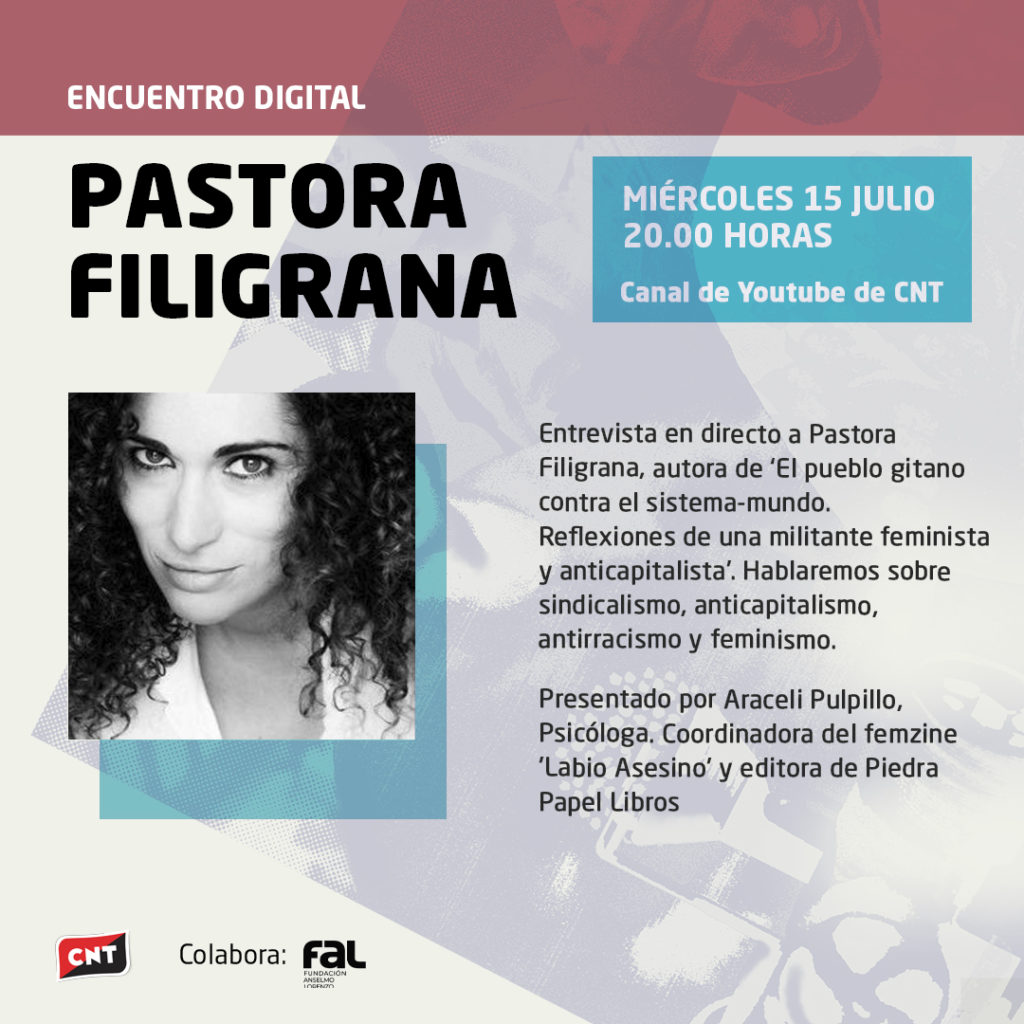 Trobada digital amb Pastora Filigrana (15-07-20)