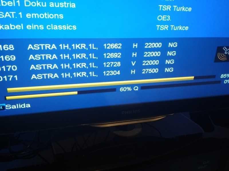 Ayuda instalación: No detecto todos los canales Astra