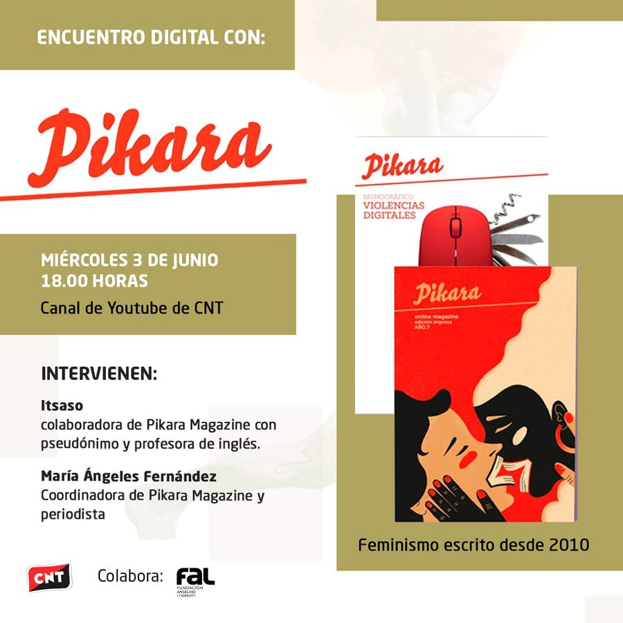 "Encuentro digital con ""Pikara Magazine"" (avui!)"