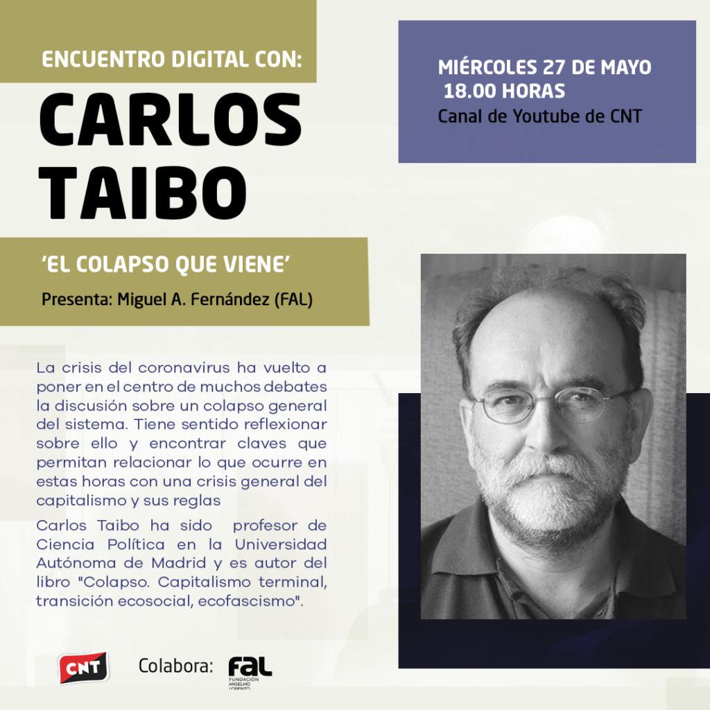 Trobada digital amb Carlos Taibo (27-05-20)