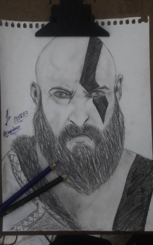 Desenho Antigo Que Fiz Do Kratos God Of War 4
