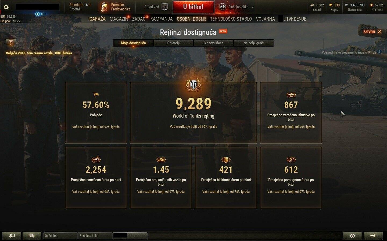 Selling] World of Tanks 2150 WN8, 18k battles, WOT EU server