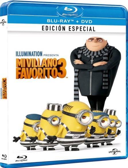 Gru 3: Mi villano favorito (2017) [HDRip XviD][Castellano AC3 5.1 + Forzados][Animación. Comedia]