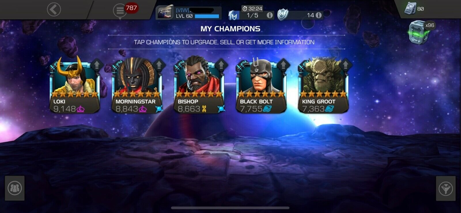 Selling] Rating 400k-500k On Sale MCoC Account with Complete