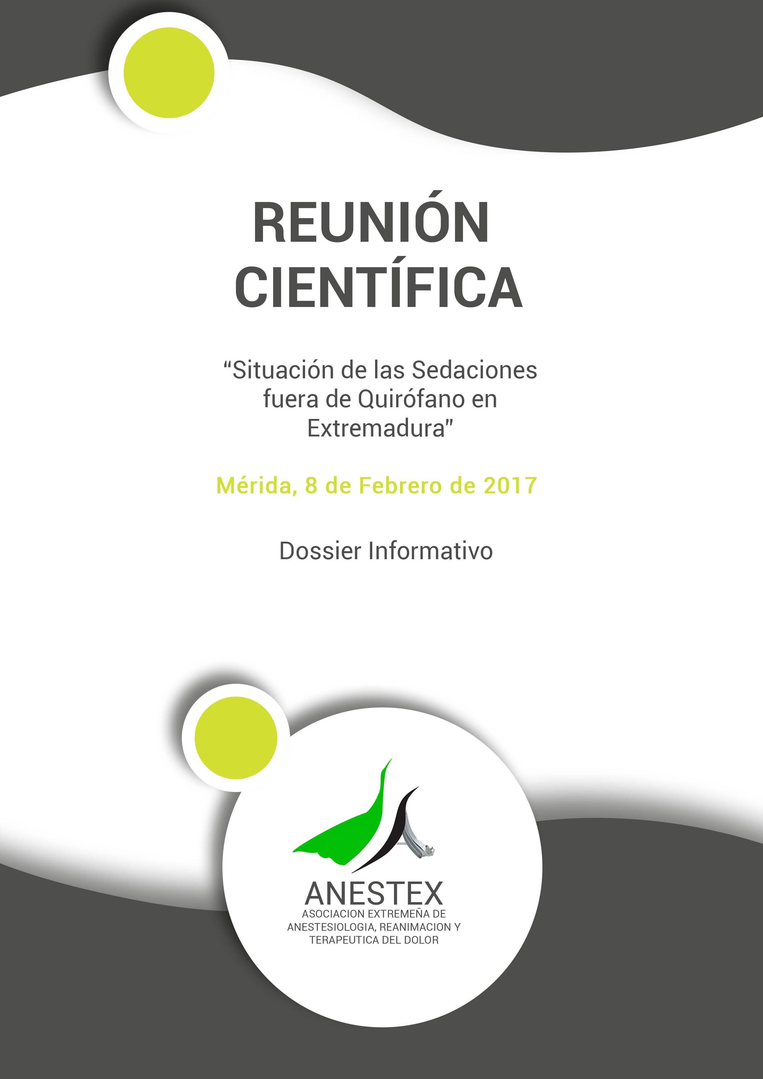 Dossier Informativo Reunión Científica ANESTEX
