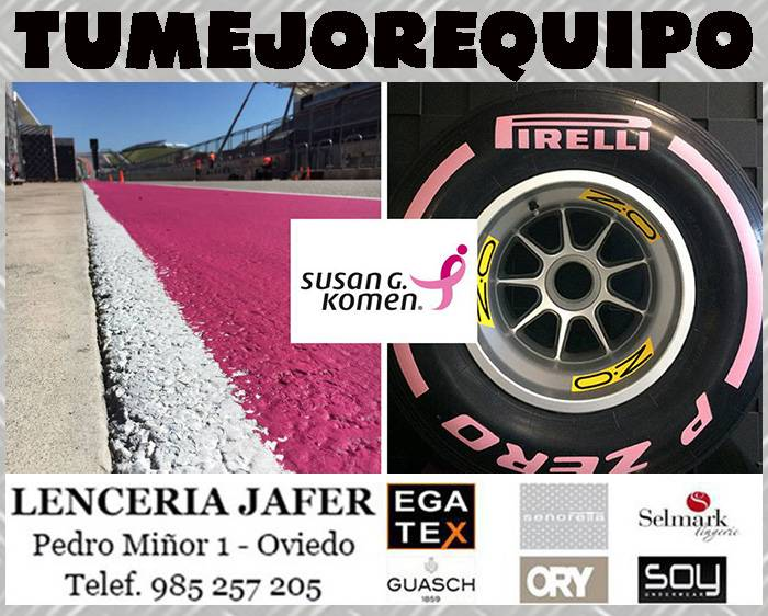 La F1 se viste de rosa para luchar contra el cáncer de mama EOUH4GA