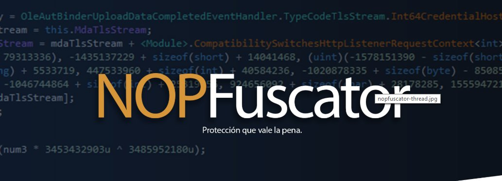 NOPFuscator - ¡Obfuscación a tus archivos .NET!