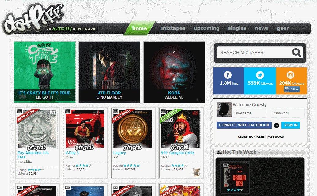 datpiff - Mejores Sitios de Descargas Gratuitas de Música