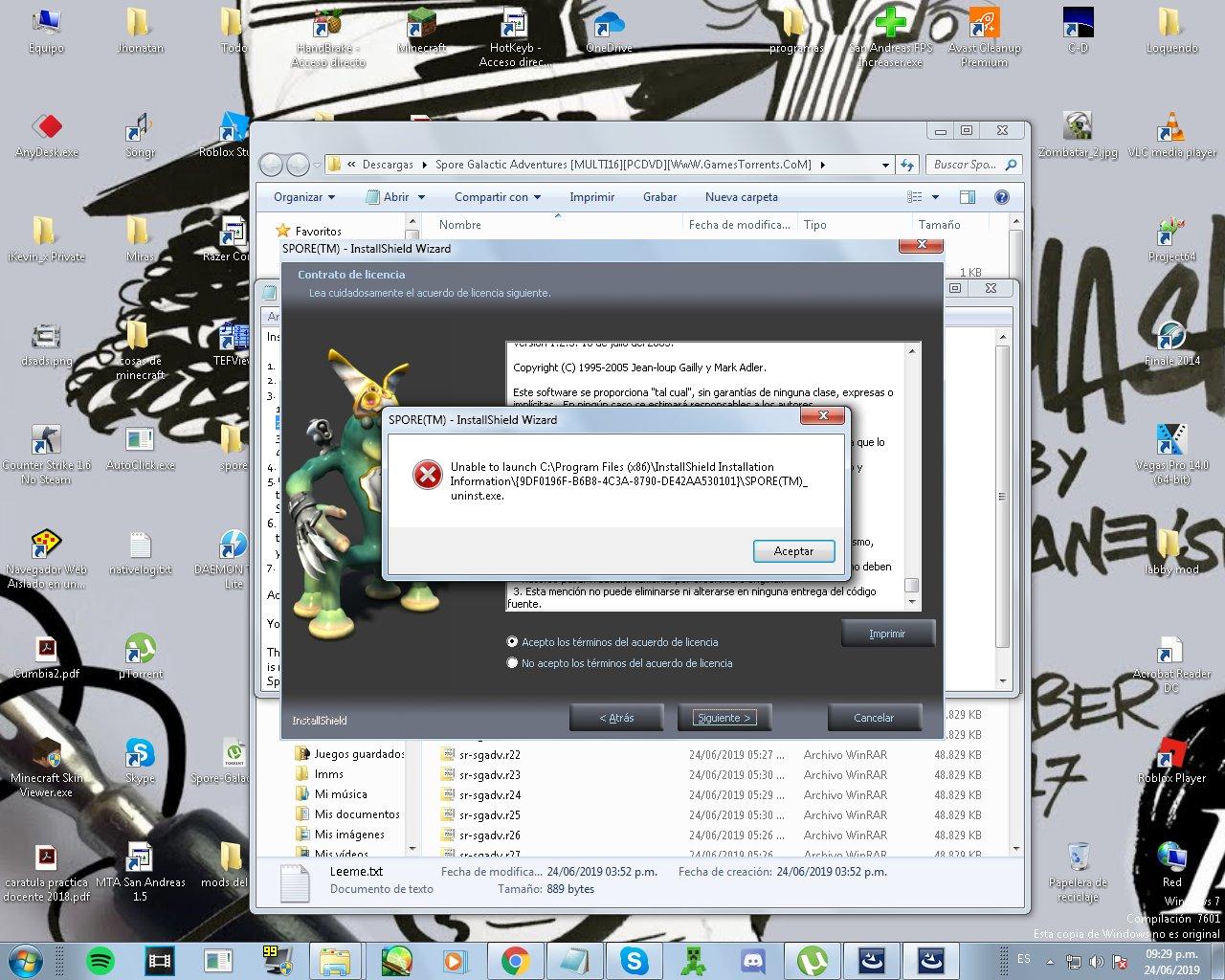 No puedo instalar  PL4Xt1D