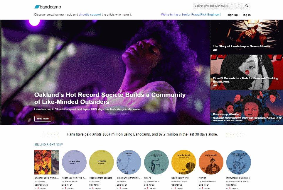 bandcamp- Mejores Sitios de Descargas Gratuitas de Música