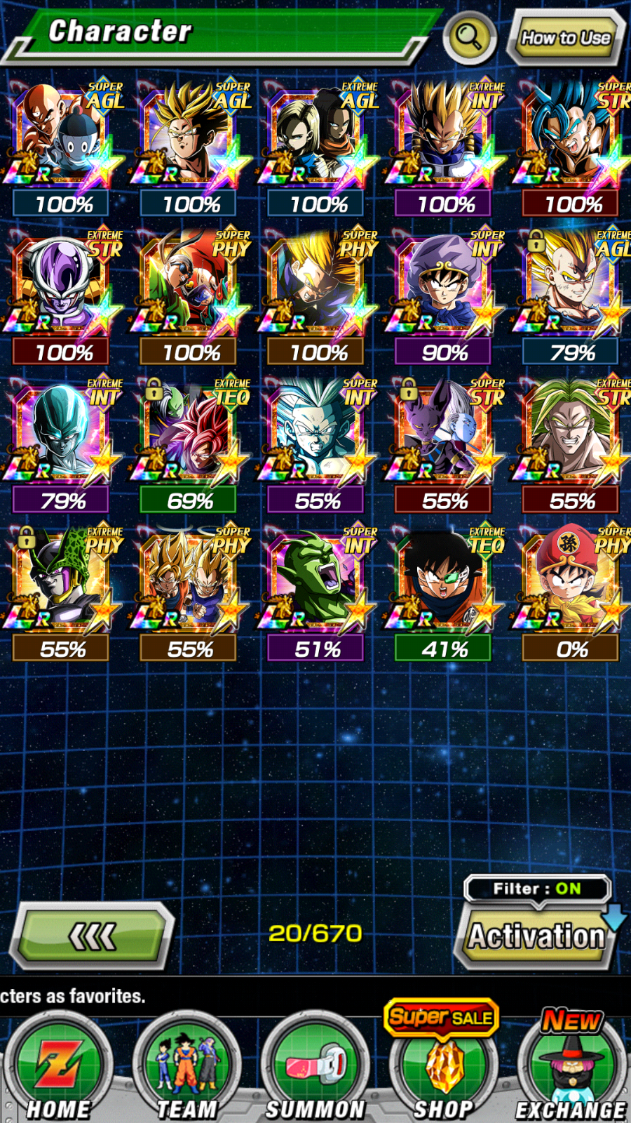 Selling Dragon Ball Z Dokkan Battle Account Most Category