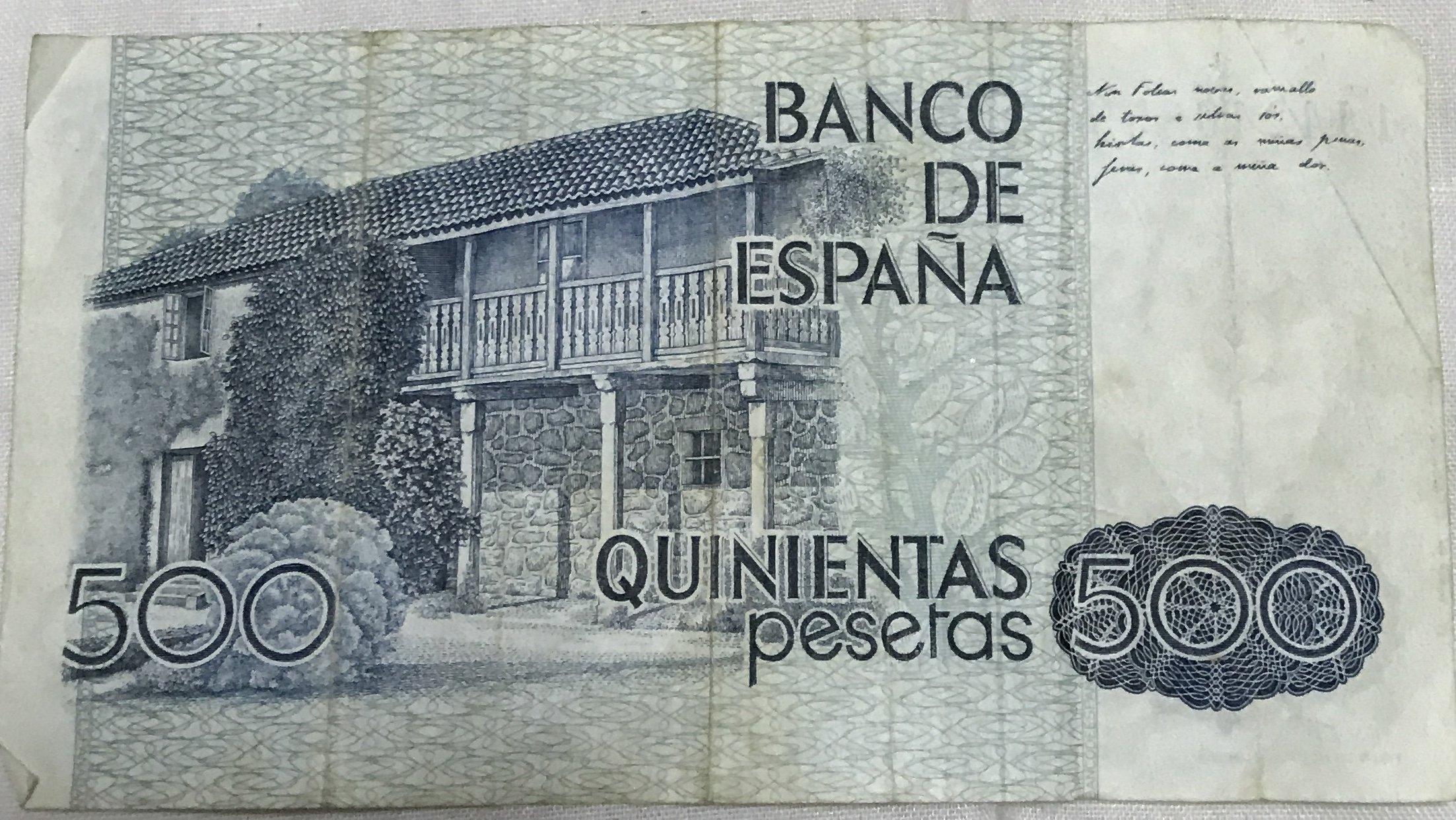 500 Pesetas, 1979  KaHctoL