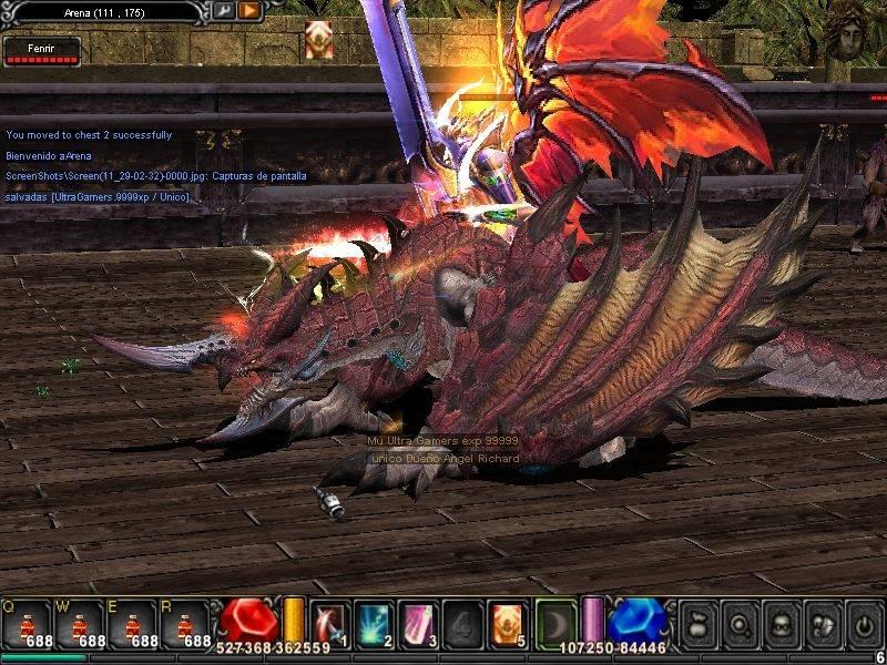 Skin Fenrir Dragon ! para mu online  MCtzarw