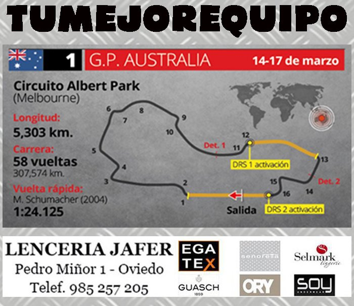 Gran Premio de Australia - Horarios Svzlpue